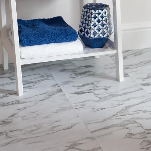 Grey marble floor tiles